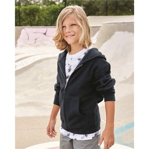 Independent Trading Co. Youth Midweight Hooded Full-Zip Sweatshirt