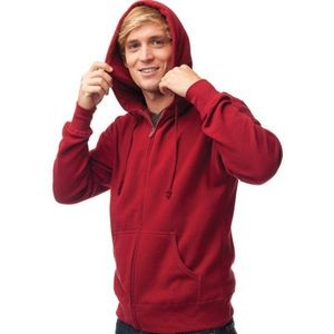 Independent Trading Company Fitted Full Zip Hooded Sweatshirt